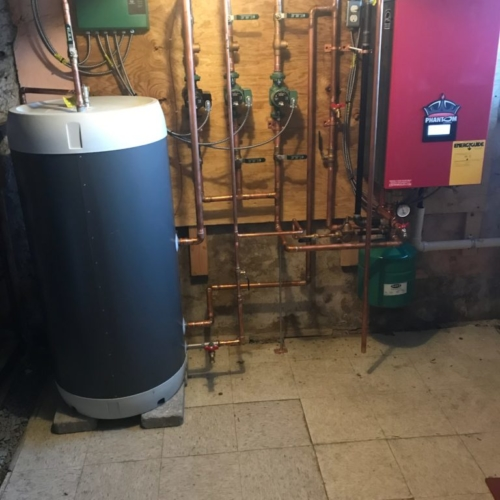 A 95% boiler install in Bridgeport, PA